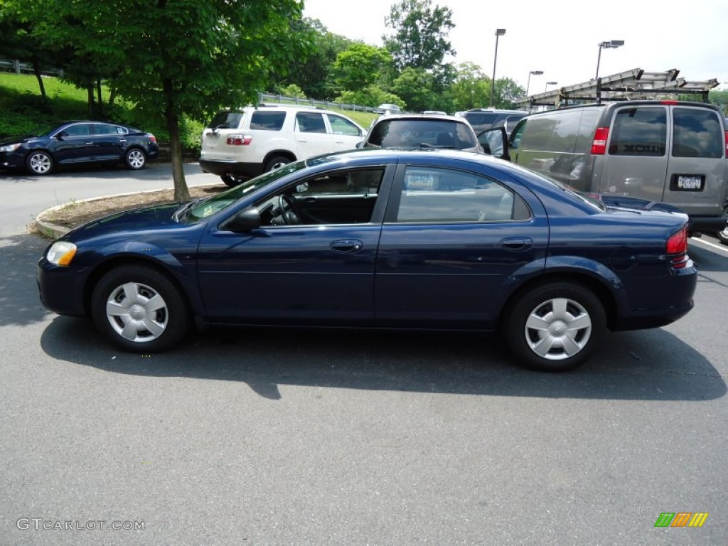 midnight blue pearl 2006 dodge stratus sxt sedan exterior. Black Bedroom Furniture Sets. Home Design Ideas