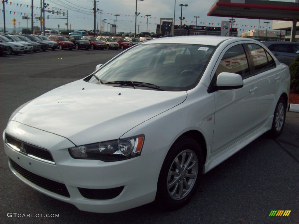2011 Lancer ES   Wicked White Metallic / Black Photo #1