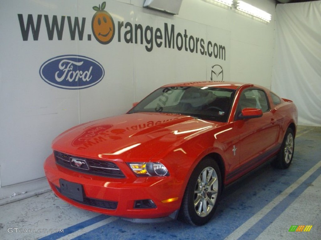 2011 Mustang V6 Premium Coupe - Race Red / Charcoal Black photo #1
