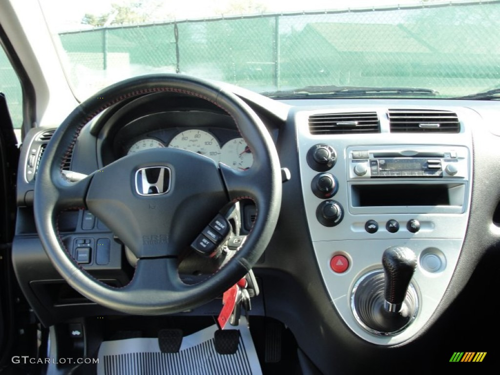 2005 Honda Civic Si Hatchback Black Dashboard Photo