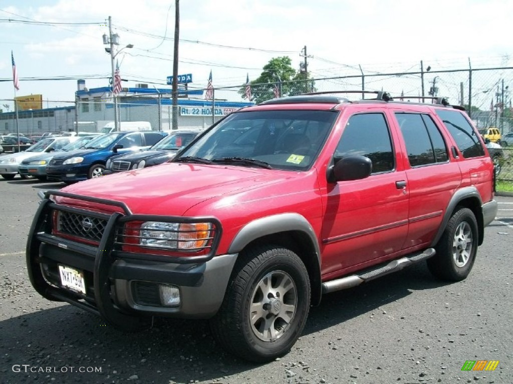 Cayenne Red 2000 Nissan Pathfinder Se 4x4 Exterior Photo