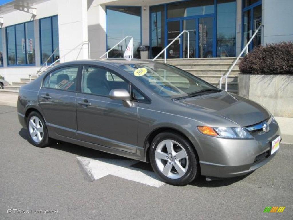 2008 Galaxy Gray Metallic Honda Civic Ex L Sedan 50690616