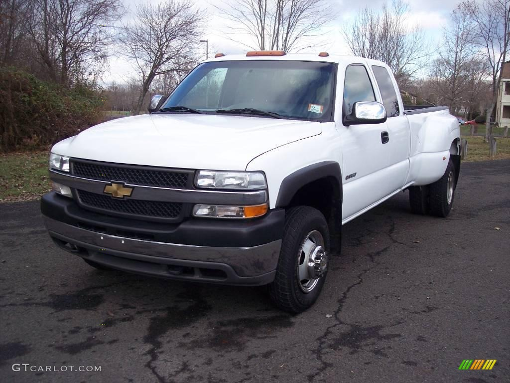 2001 summit white chevrolet silverado 3500 ls extended cab 4x4 dually 5054699 photo 2