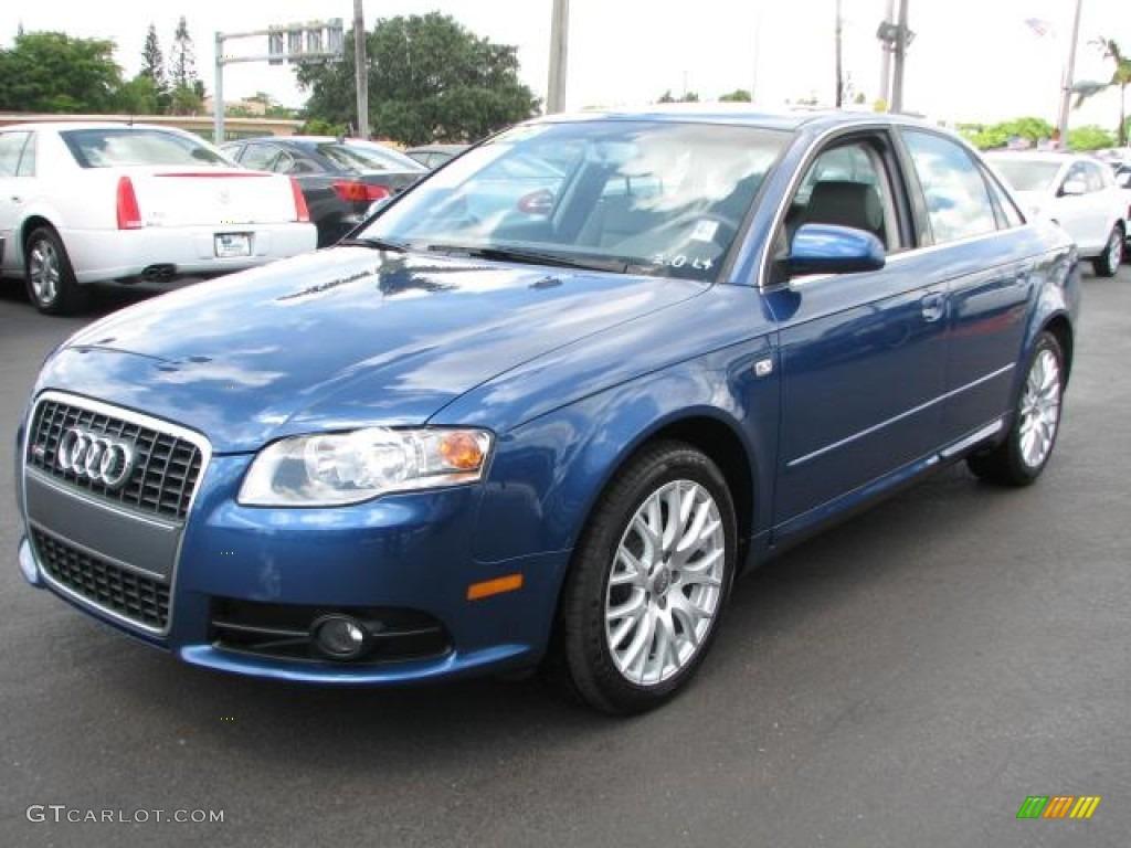 Ocean Blue Pearl Effect 2008 Audi A4 2 0t S Line Sedan