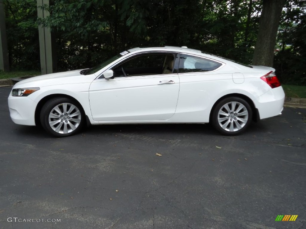 Taffeta White 2009 Honda Accord Ex L V6 Coupe Exterior
