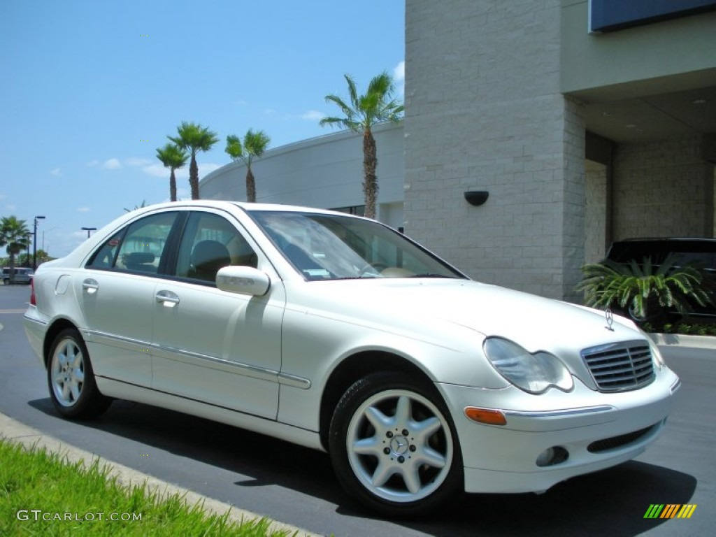 Alabaster white 2003 mercedes benz c 240 sedan exterior for Mercedes benz c 240