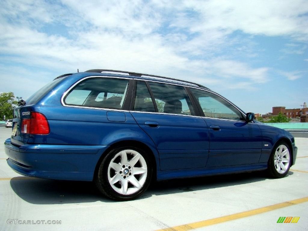 topaz blue metallic 2002 bmw 5 series 525i wagon exterior. Black Bedroom Furniture Sets. Home Design Ideas