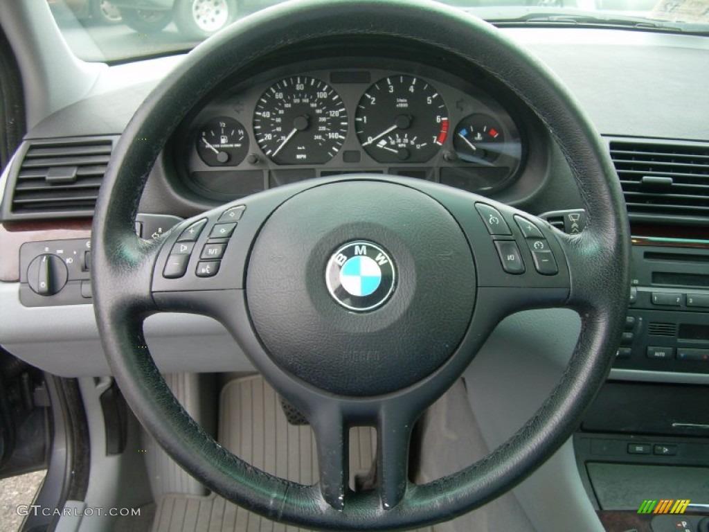 2001 Bmw 3 Series 325i Sedan Grey Steering Wheel Photo 50757696