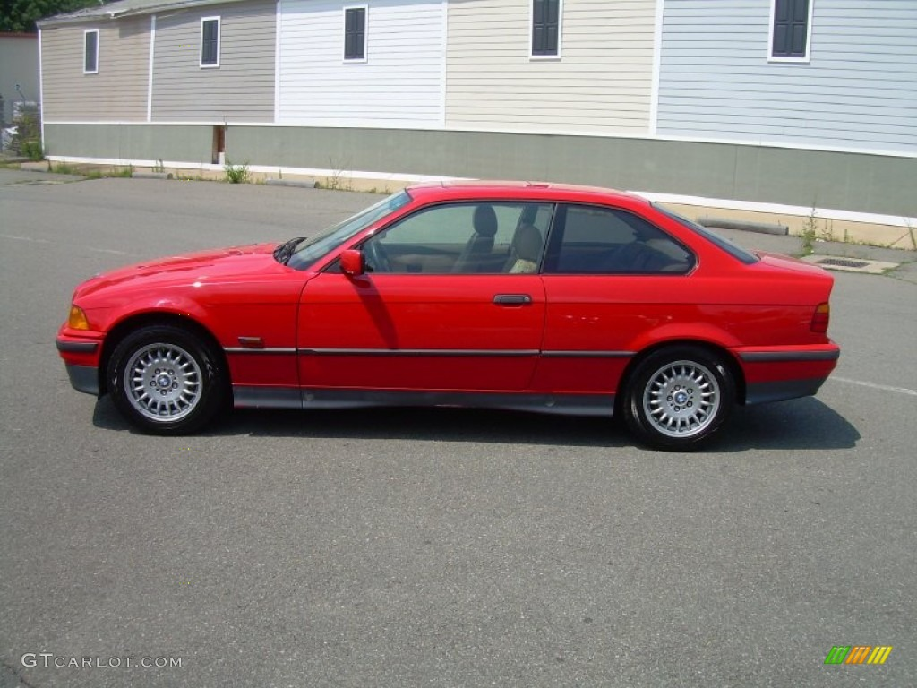Bright red 1995 bmw 3 series 325is coupe exterior photo 50757840