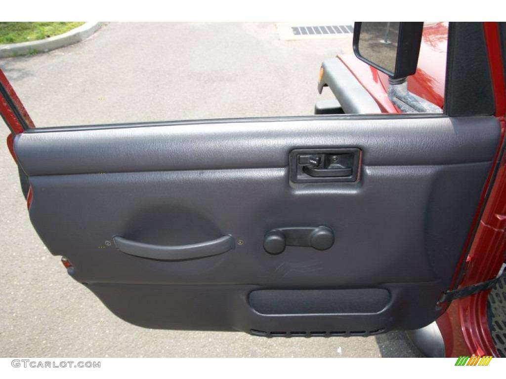 1999 Jeep Wrangler Sport 4x4 Agate Door Panel Photo