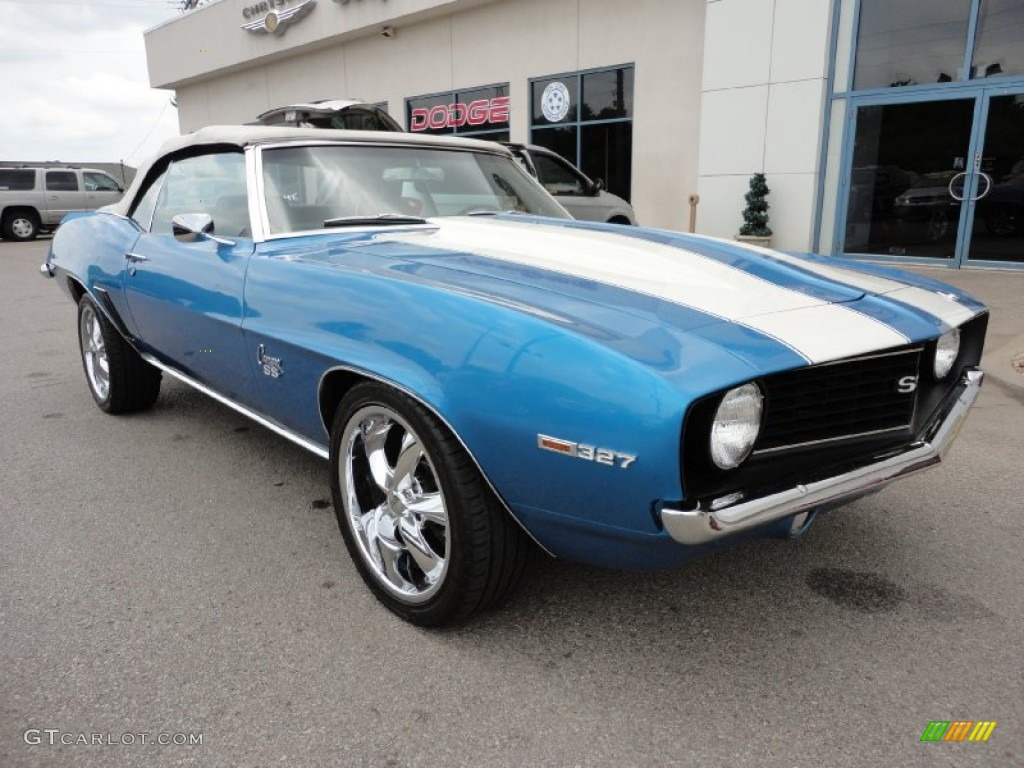 Bright Blue Metallic Chevrolet Camaro SS Convertible - 1969 camaro paint codes colors