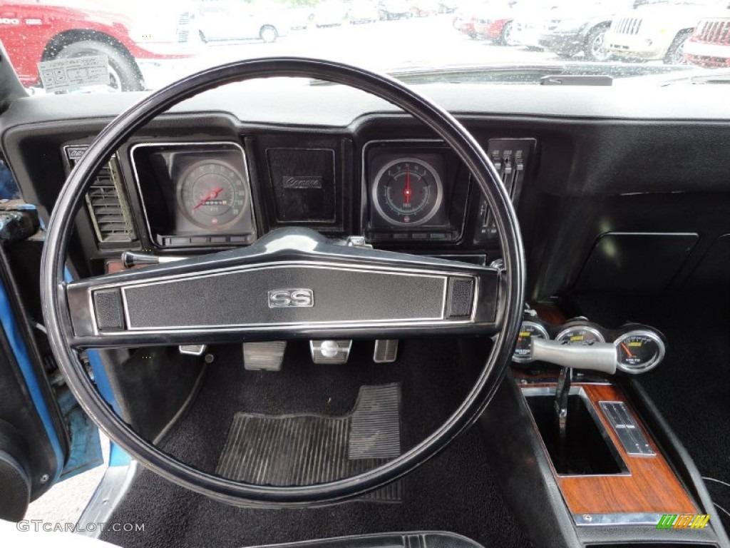 1969 Bright Blue Metallic Chevrolet Camaro SS Convertible