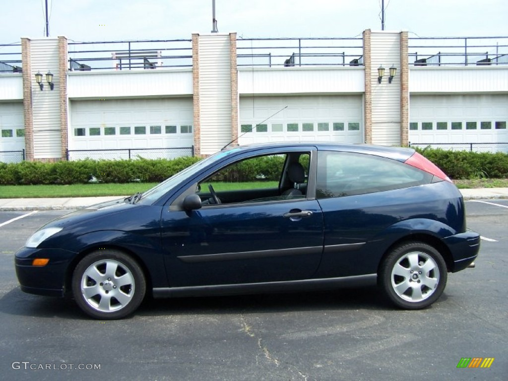 Twilight Blue Metallic 2002 Ford Focus Zx3 Coupe Exterior