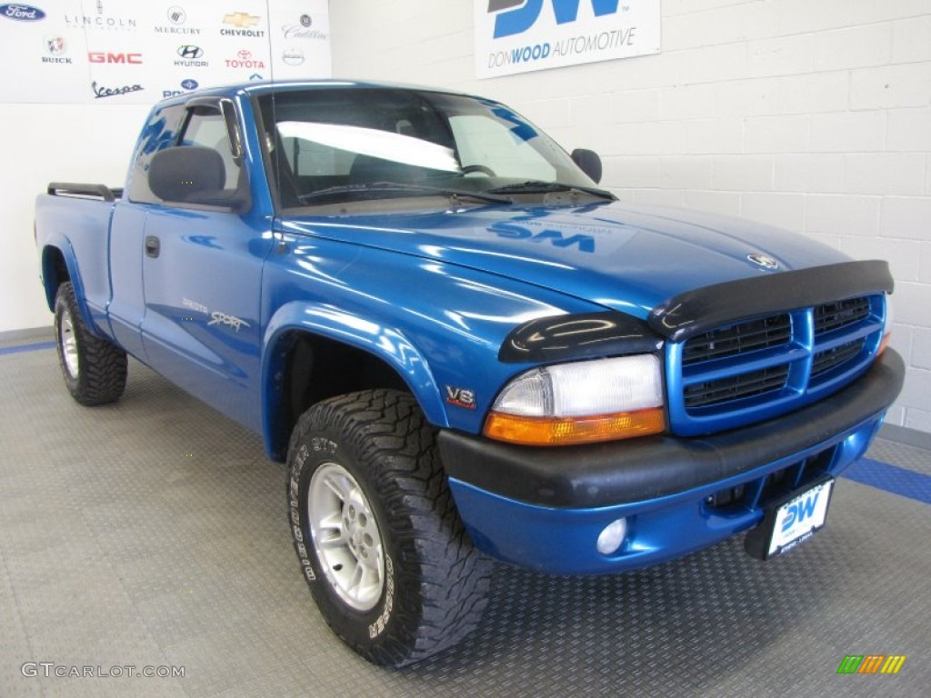 1999 intense blue pearl dodge dakota sport extended cab. Black Bedroom Furniture Sets. Home Design Ideas