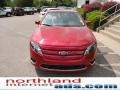 2011 Red Candy Metallic Ford Fusion SEL  photo #3