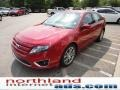 2011 Red Candy Metallic Ford Fusion SEL  photo #4