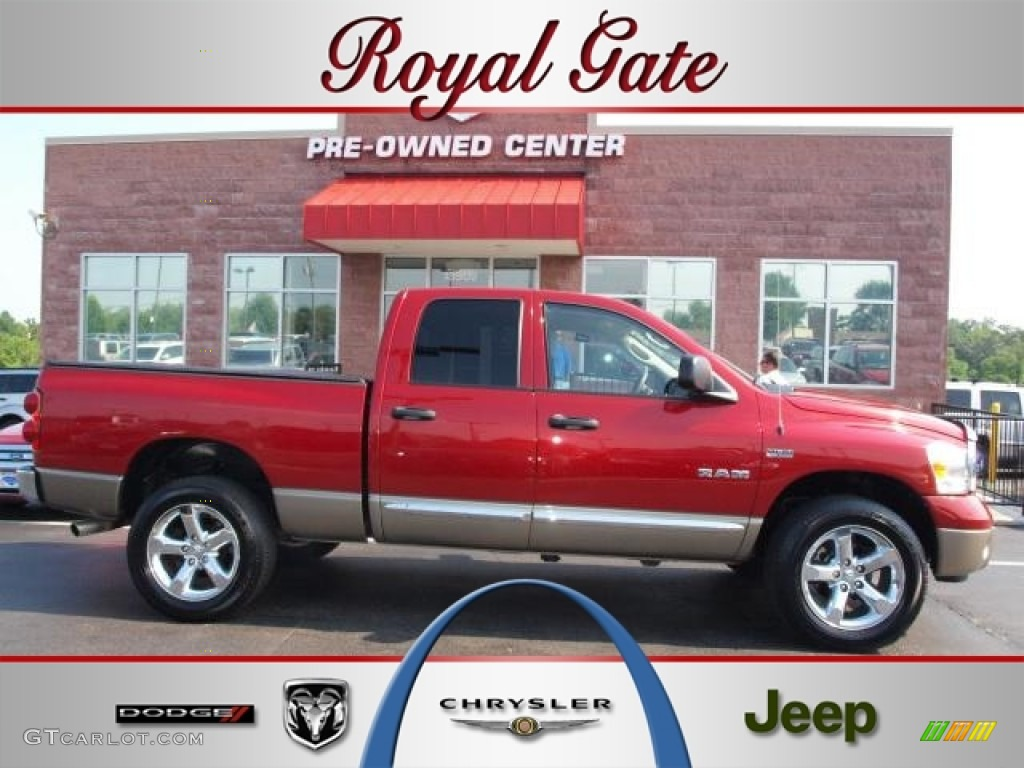 Blaze Red Crystal Pearl Dodge Ram 1500