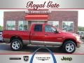2008 Blaze Red Crystal Pearl Dodge Ram 1500 Laramie Quad Cab 4x4  photo #1