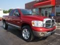 2008 Blaze Red Crystal Pearl Dodge Ram 1500 Laramie Quad Cab 4x4  photo #2