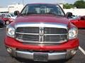 2008 Blaze Red Crystal Pearl Dodge Ram 1500 Laramie Quad Cab 4x4  photo #8