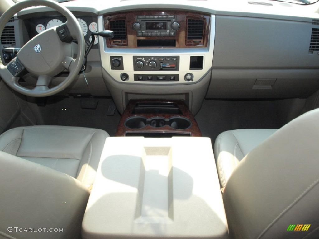 2008 Ram 1500 Laramie Quad Cab 4x4 - Blaze Red Crystal Pearl / Khaki photo #10