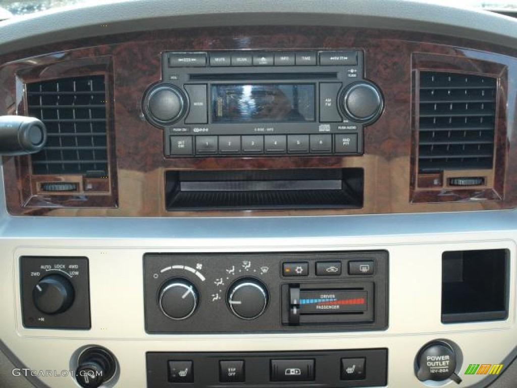 2008 Ram 1500 Laramie Quad Cab 4x4 - Blaze Red Crystal Pearl / Khaki photo #12