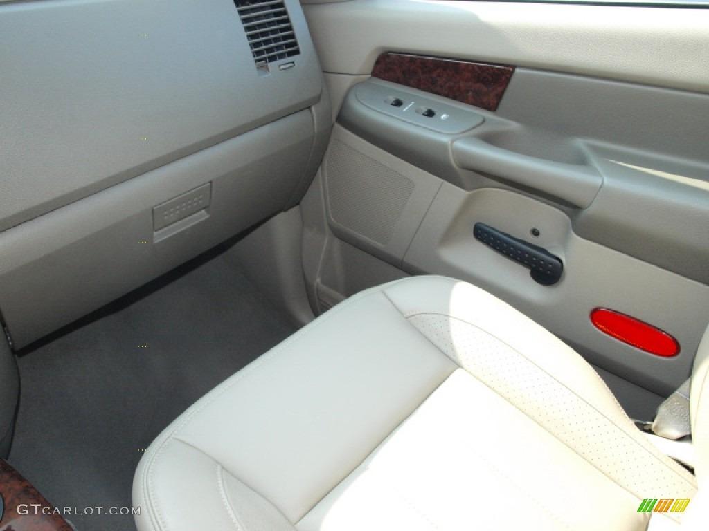 2008 Ram 1500 Laramie Quad Cab 4x4 - Blaze Red Crystal Pearl / Khaki photo #13