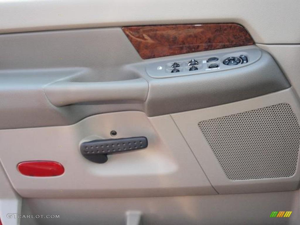 2008 Ram 1500 Laramie Quad Cab 4x4 - Blaze Red Crystal Pearl / Khaki photo #15