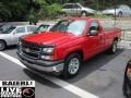 2006 Victory Red Chevrolet Silverado 1500 Work Truck Regular Cab  photo #3