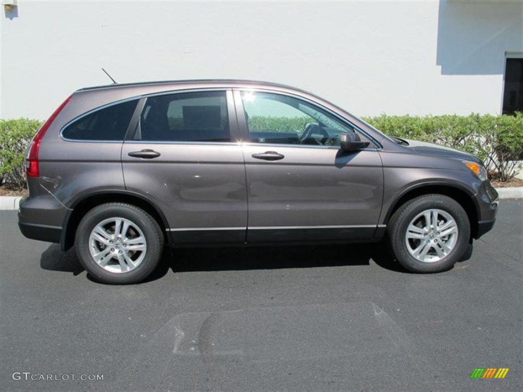 2011 CR-V EX-L - Urban Titanium Metallic / Black photo #2