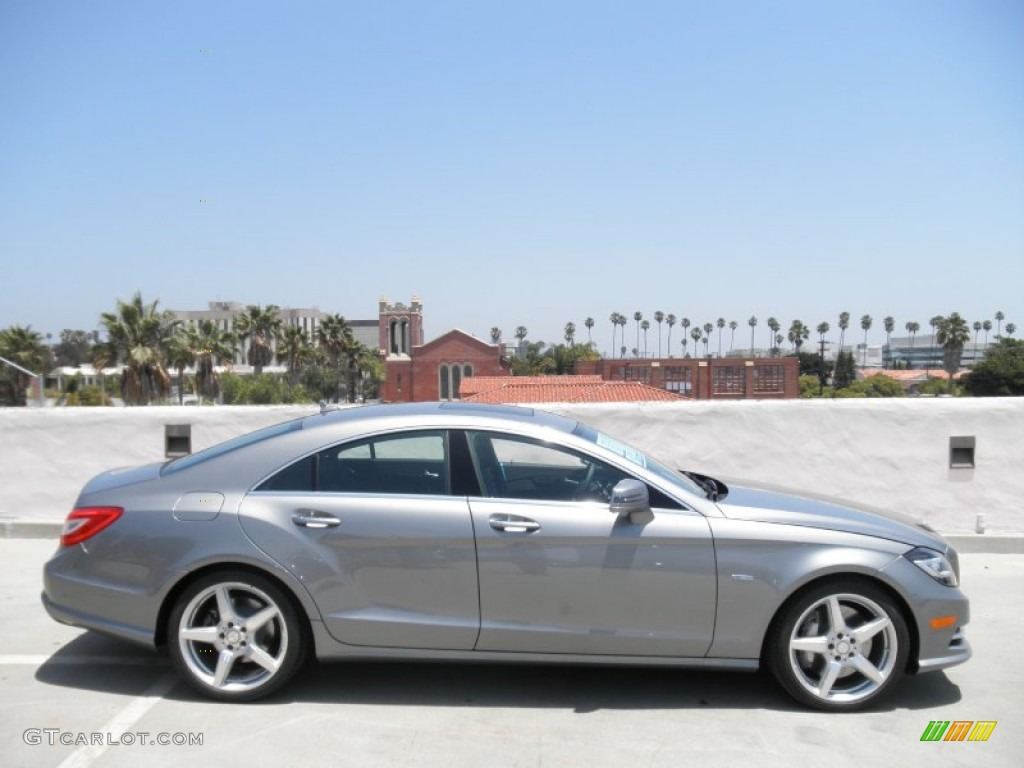 Palladium silver metallic 2012 mercedes benz cls 550 coupe for 2012 mercedes benz cls