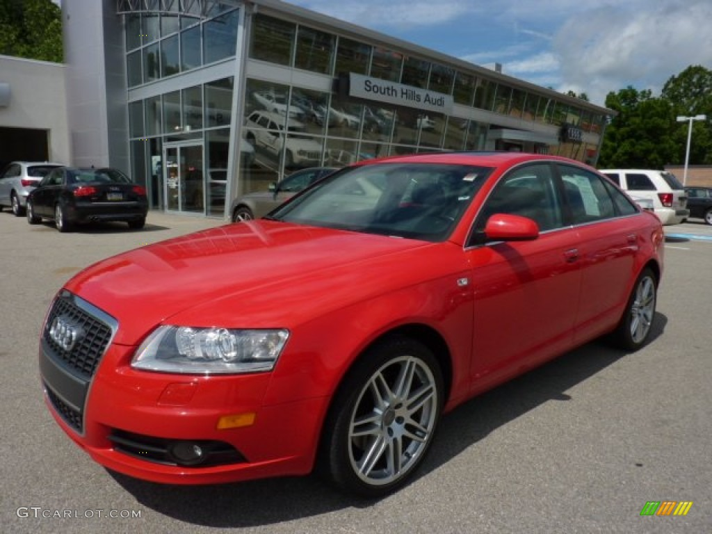 2008 misano red pearl effect audi a6 3 2 quattro sedan. Black Bedroom Furniture Sets. Home Design Ideas