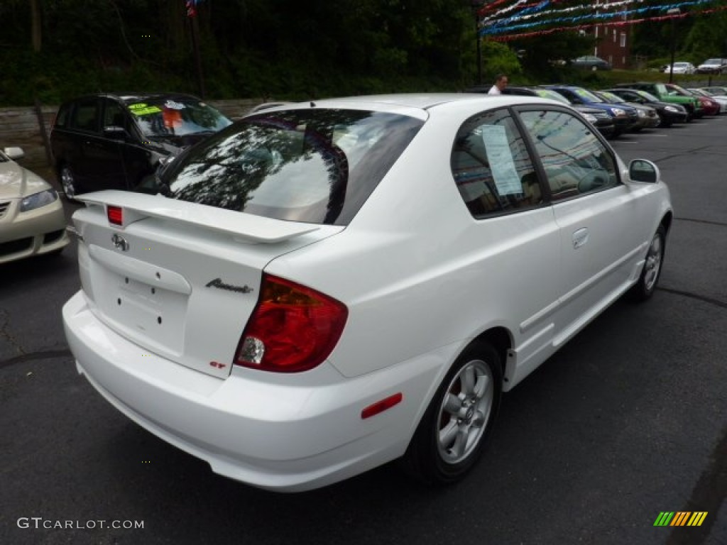 Noble White 2003 Hyundai Accent GT Coupe Exterior Photo #50874541