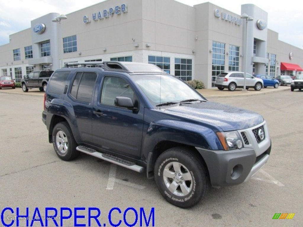 2009 navy blue metallic nissan xterra s 4x4 50870313. Black Bedroom Furniture Sets. Home Design Ideas