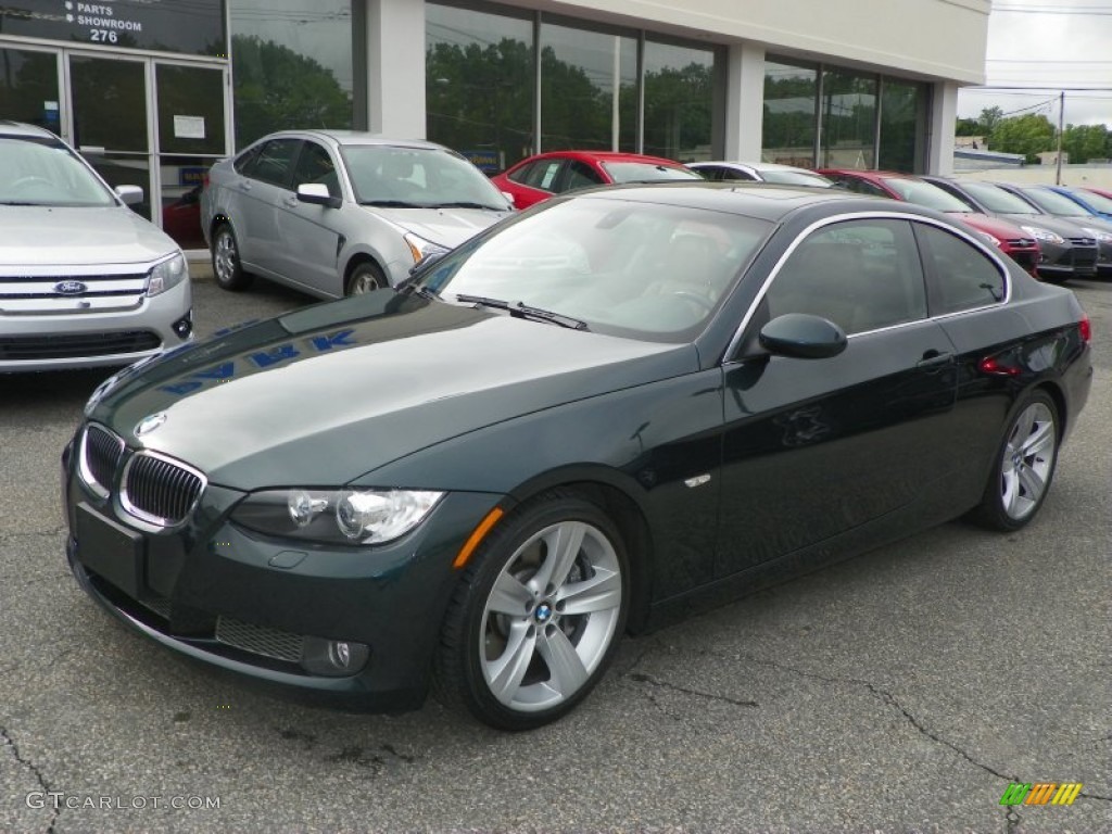 deep green metallic 2007 bmw 3 series 335i coupe exterior. Black Bedroom Furniture Sets. Home Design Ideas