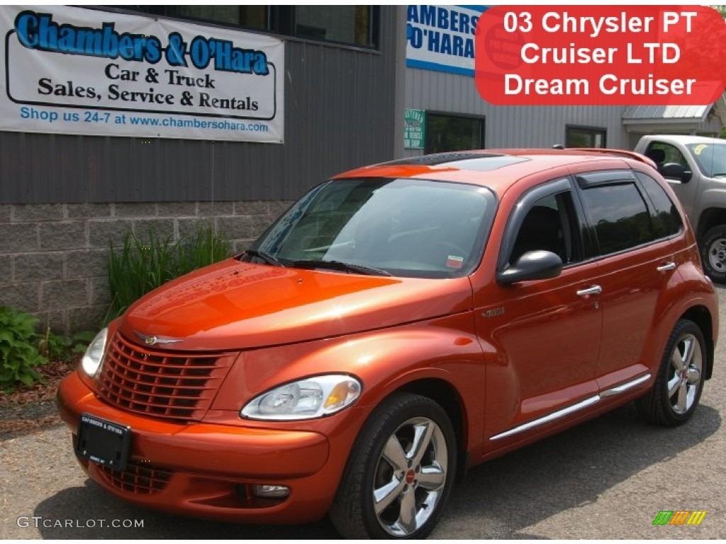 2003 PT Cruiser Dream Cruiser Series 2 - Tangerine Pearl / Dark Slate Gray/Orange photo #1