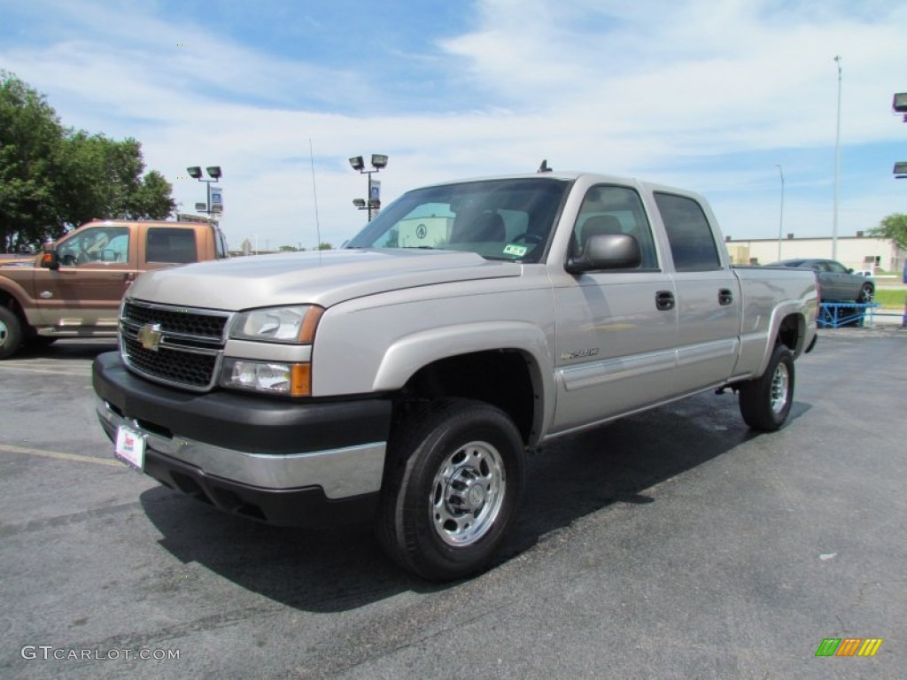 silver birch metallic 2006 chevrolet silverado 2500hd lt crew cab exterior photo 50906422. Black Bedroom Furniture Sets. Home Design Ideas