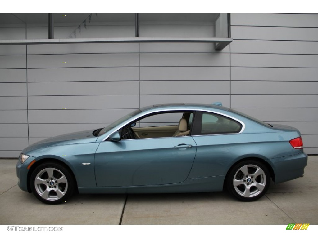 Atlantic Blue Metallic 2008 Bmw 3 Series 328xi Coupe