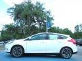 2012 White Platinum Tricoat Metallic Ford Focus Titanium 5-Door  photo #2