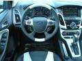 2012 White Platinum Tricoat Metallic Ford Focus Titanium 5-Door  photo #8