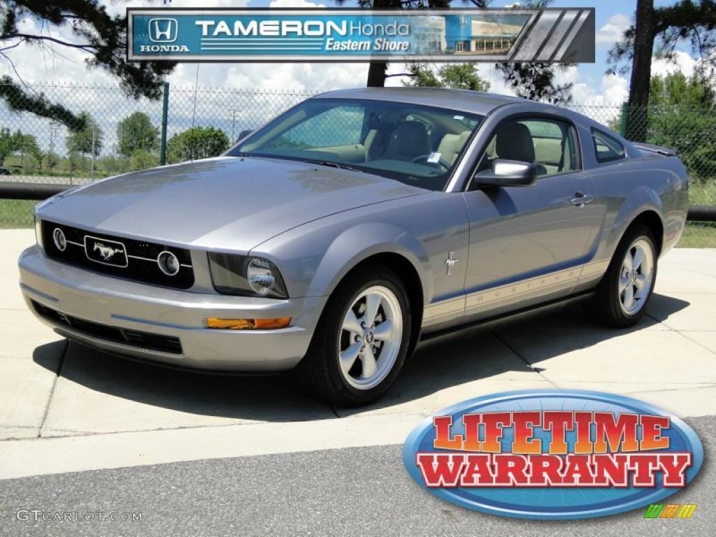 2007 Mustang V6 Premium Coupe - Tungsten Grey Metallic / Medium Parchment photo #1