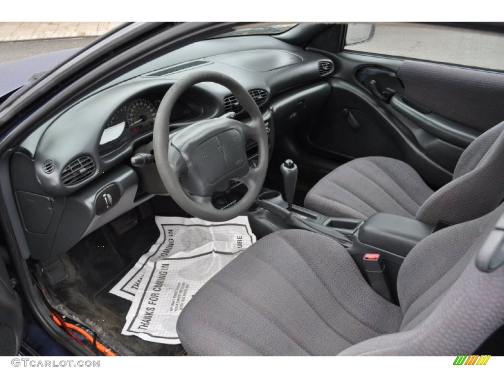graphite interior 2000 pontiac sunfire se coupe photo #50939643