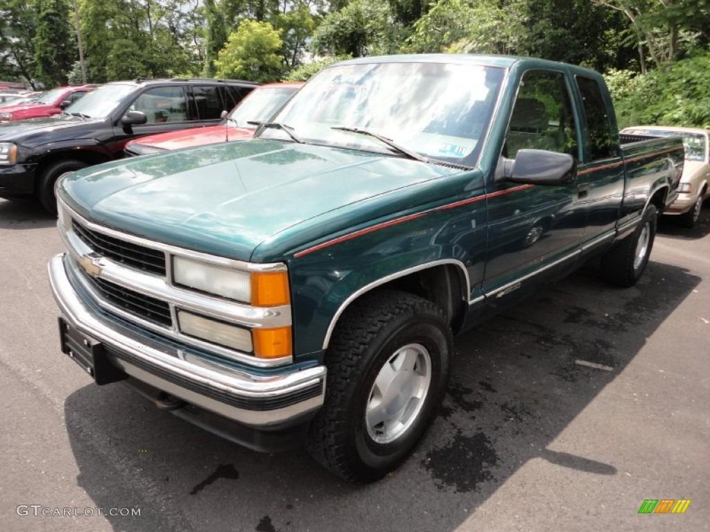 Emerald Green Metallic 1998 Chevrolet C K K1500 Extended