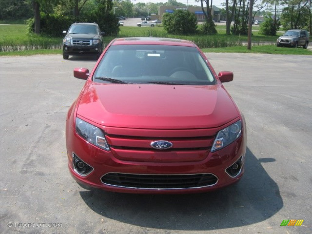 2011 Fusion SEL - Red Candy Metallic / Charcoal Black photo #2
