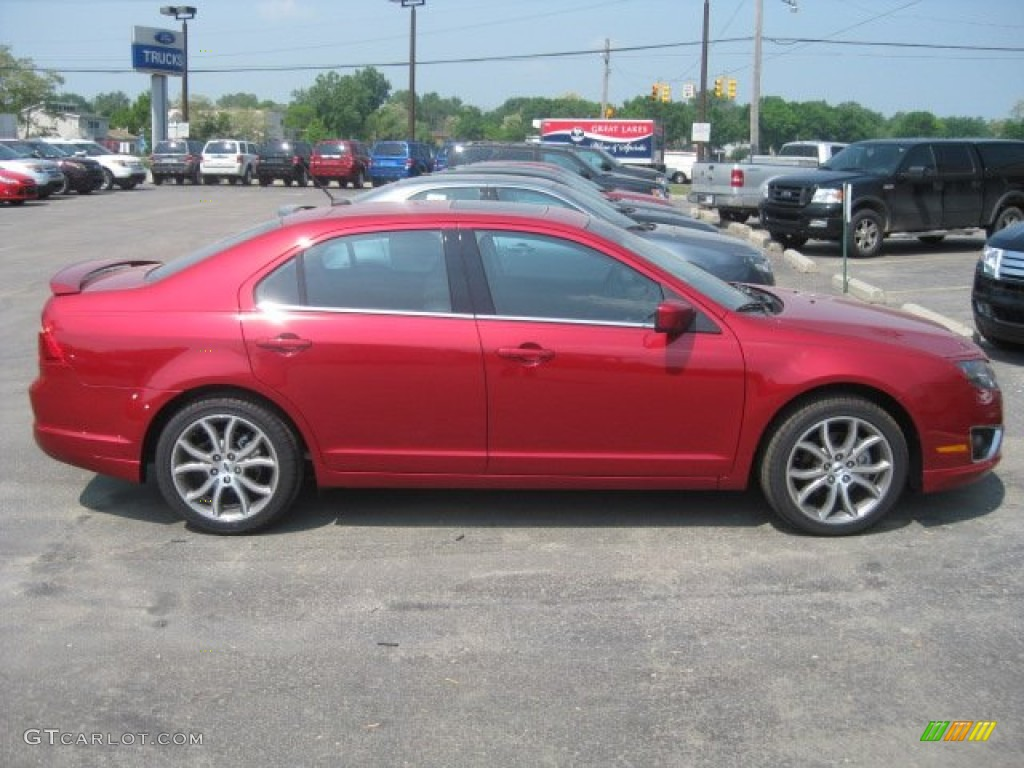 2011 Fusion SEL - Red Candy Metallic / Charcoal Black photo #3