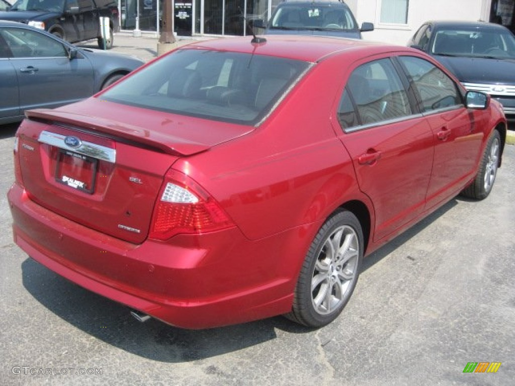 2011 Fusion SEL - Red Candy Metallic / Charcoal Black photo #4