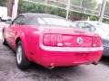 2007 Torch Red Ford Mustang V6 Deluxe Convertible  photo #2