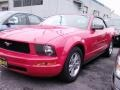 2007 Torch Red Ford Mustang V6 Deluxe Convertible  photo #3