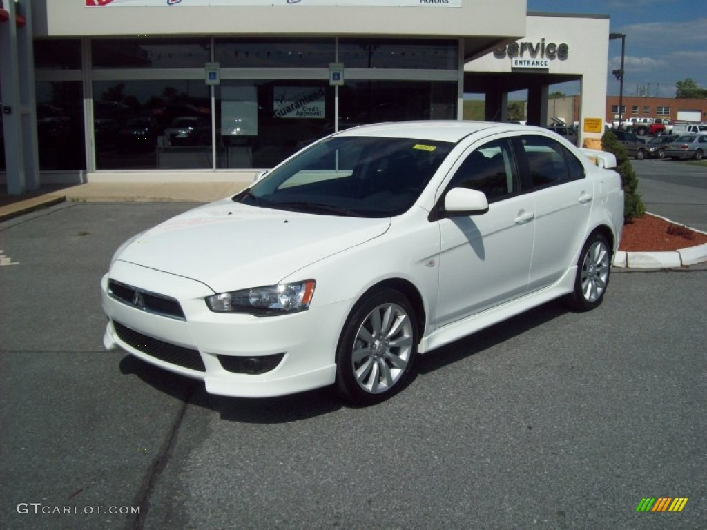 2011 Lancer GTS   Wicked White Metallic / Black Photo #1