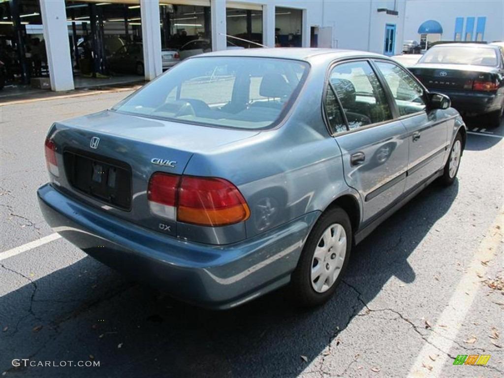 1998 Civic DX Sedan   Cyclone Blue Metallic / Gray Photo #2